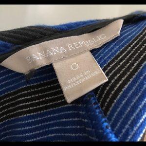 Banana Republic Dresses - Banana Republic blue black striped dress 0